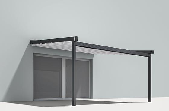 Pergola inclinée toile PVC rétractable