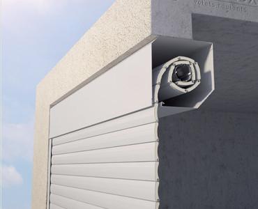 Porte de garage enroulement intérieur